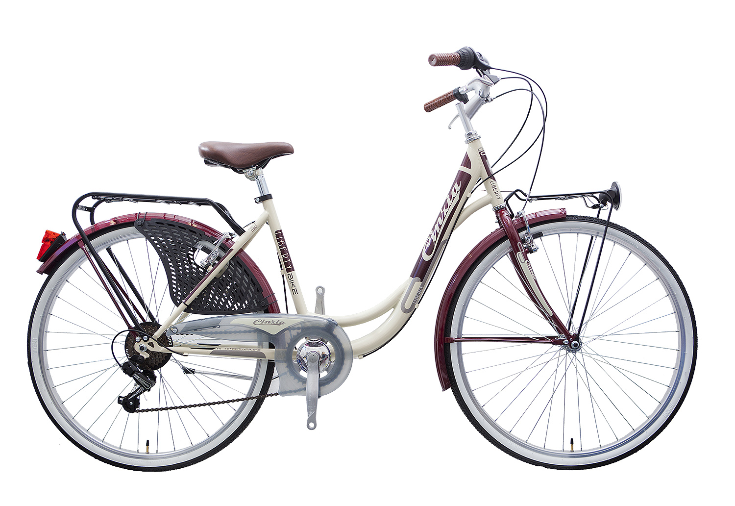 "Cinzia 26"" LIBERTY LADY 6B Steel Frame Cream/Burgundy"