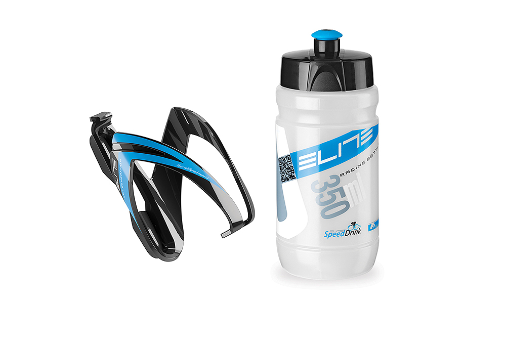 Nosač bidona + bidon Elite KIT CEO Blue 350ml, 350ml