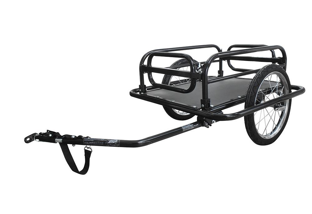 Prikolica teretna za bicikl sklopiva