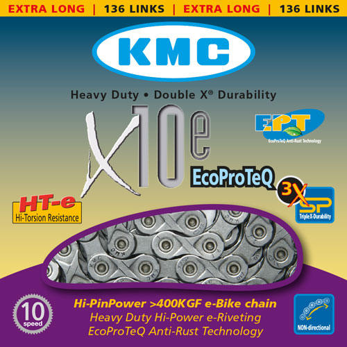 Lanac KMC X10e Eco Proteq 1/2X11/128 136 10B