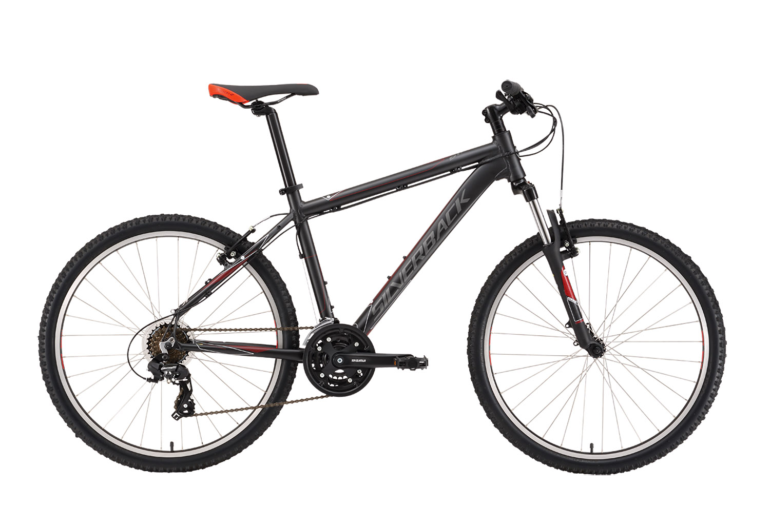 "Silverback STRIDE Sport 26"" Black-Grey-Red, 21.5"", Hardtail 26"", Aluminij, Muški"