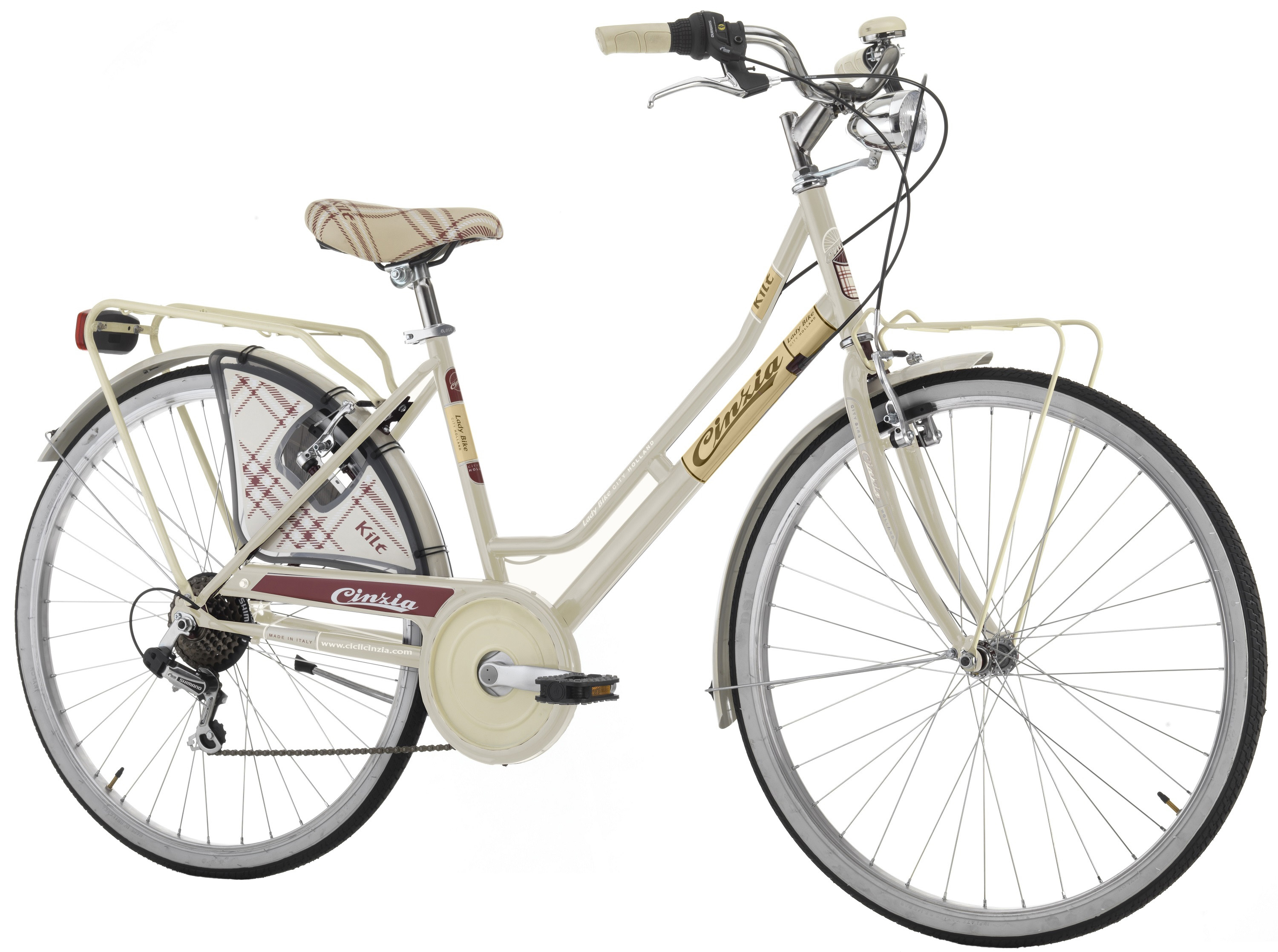 "Cinzia 26"" KILT LADY 6B V-Brake Cream"