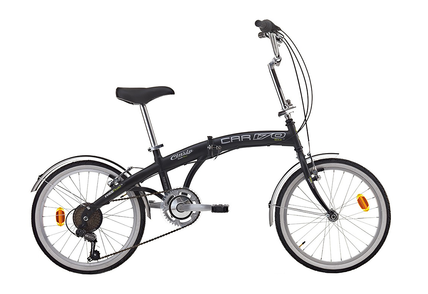 "Cinzia Folding CARBIKE 6B 20"" Matt-Black, Čelik, Unisex"