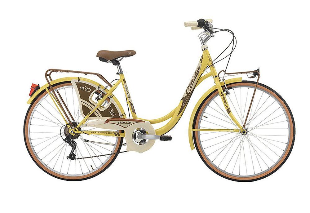 """Cinzia 26"""" DECOVILLE Lady 6B V-Brake Pastel Yellow"""