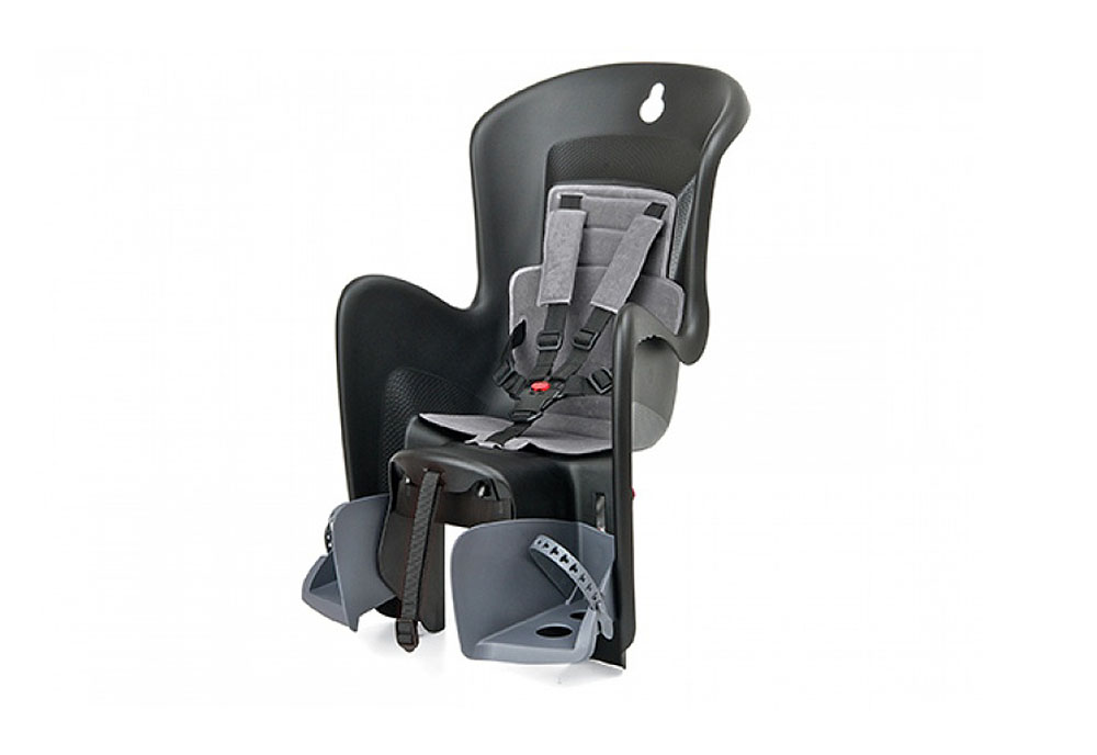 Sjedalo za dj. stražnje BILBY na nosač CFS Black/Grey Polisport