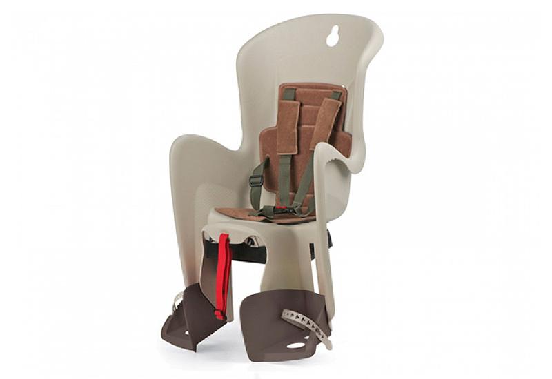 Sjedalo za dj. stražnje BILBY na nosač CFS Cream/Brown Polisport