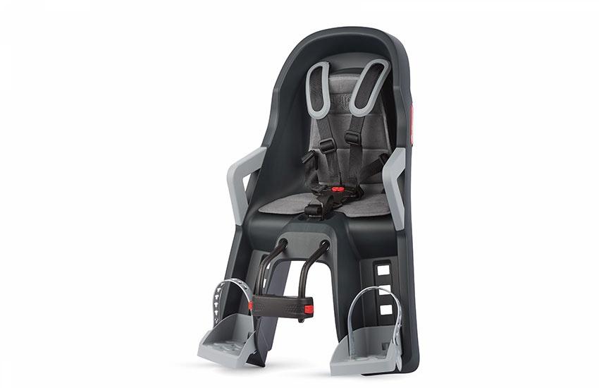 Sjedalo za dj. prednje GUPPY MINI prednja montaža Dark Grey/Silver Polisport