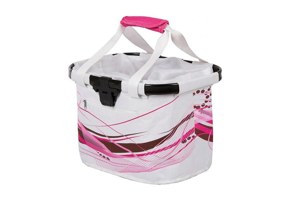 Košara prednja/torba s nosačem M-Wave White Fancy 20L