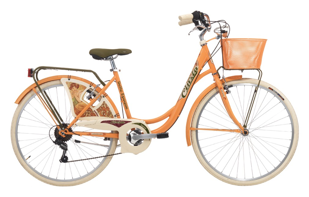 "Cinzia 26"" BELLE EPOQUE Lady 6B V-Brake Peach orange"