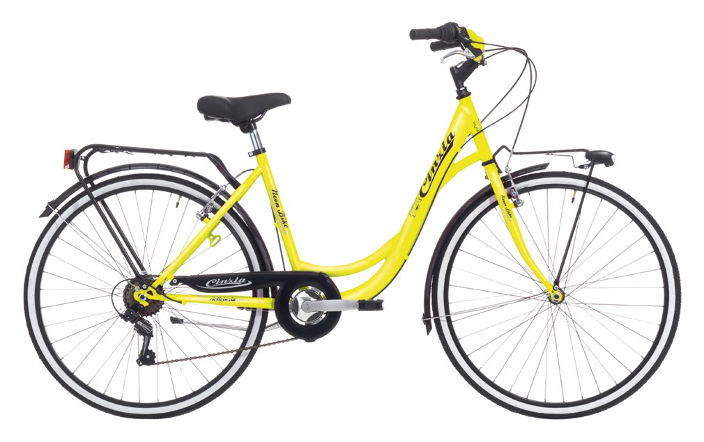 "Cinzia 26"" NEON LADY 6B V-Brake Yellow Fluo"