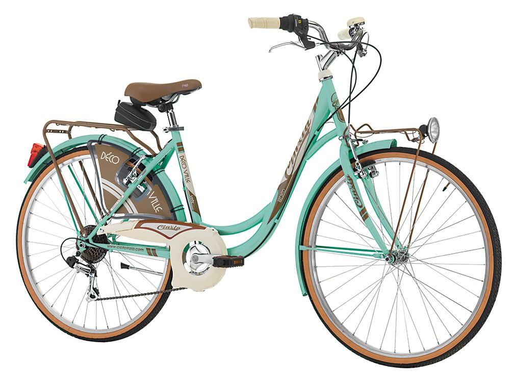 "Cinzia 26"" DECOVILLE LADY 6B V-brake Mint Green"