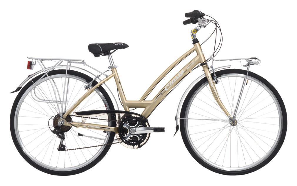 "Cinzia 28"" VITA LADY 21B V-Brake Matt Gold"