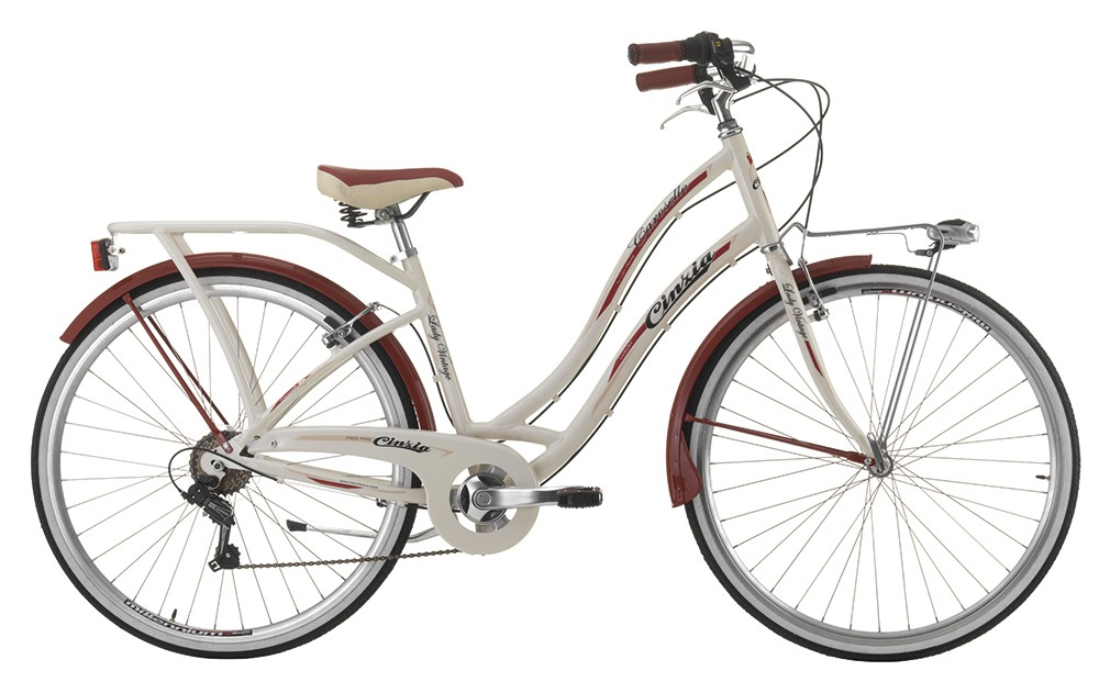 "Cinzia 28"" CAROSELLO LADY 6B V-Brake Cream"