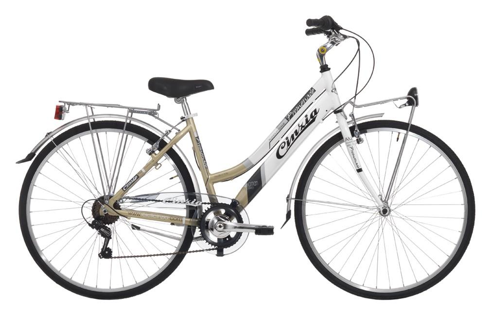 "Cinzia 28"" CTB PROMENADE LADY 6B V-Brake Black/Silver"