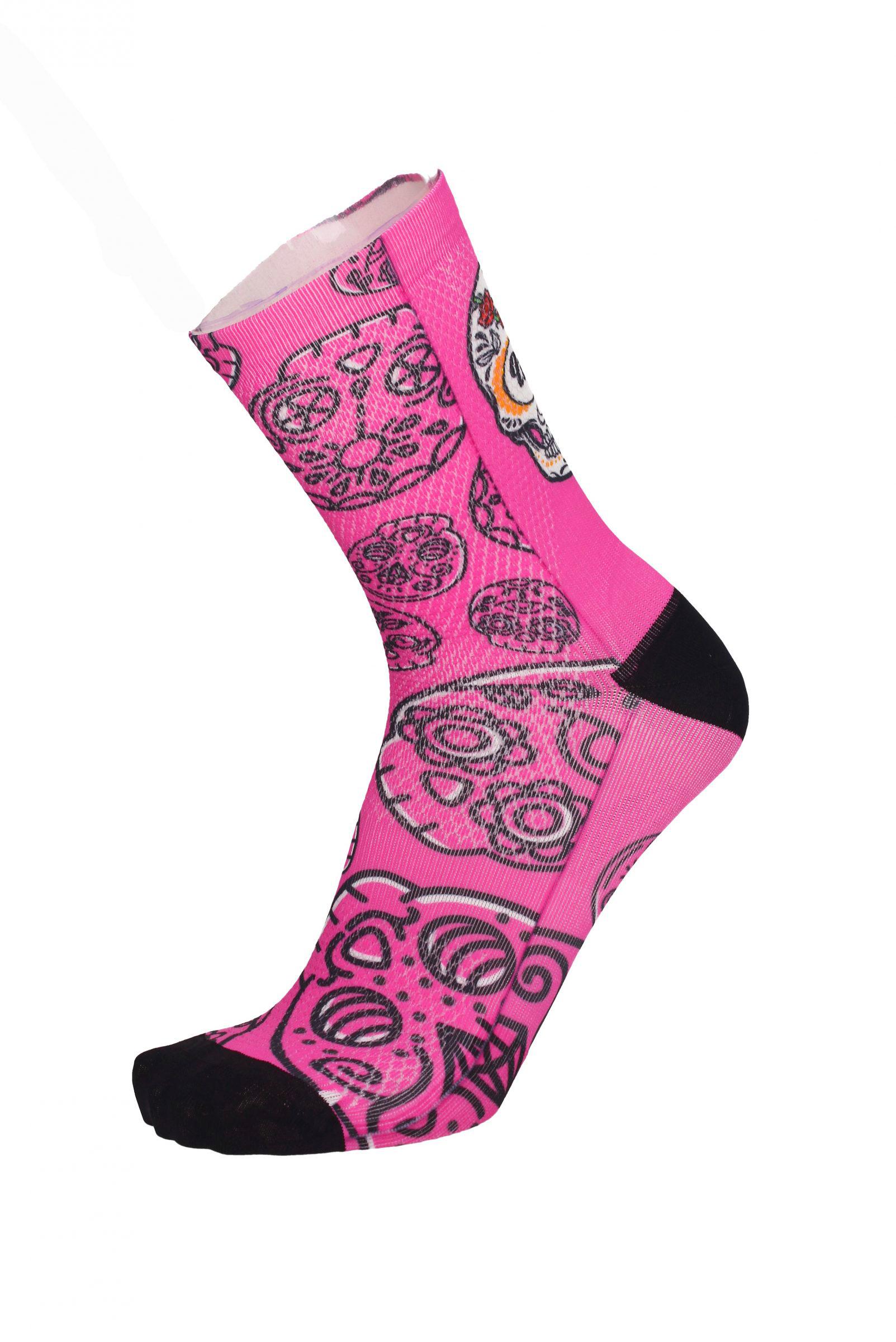 Čarape MBWear FUN 15 Pink Skull
