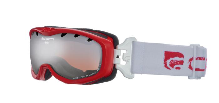 Ski maska Cairn RUSH spx 3000 Shiny Red White