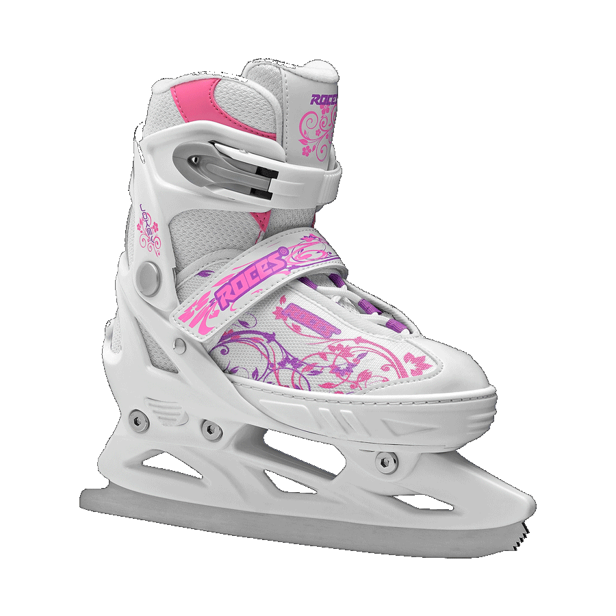 Klizaljke Roces podesive JOKEY ICE Girl White-Pink-Violet