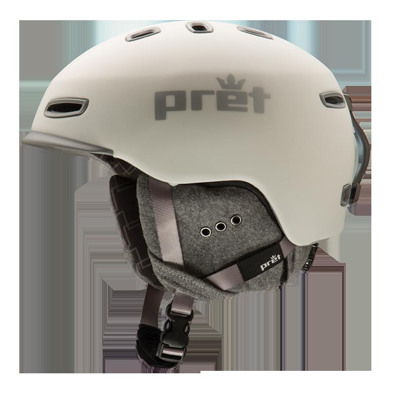 Ski kaciga Pret LYRIC Rubber Pearl Chalk