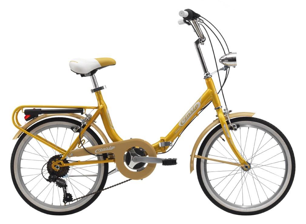 "Cinzia 20"" BOLOGNA FOLDING 6B Gold Yellow"