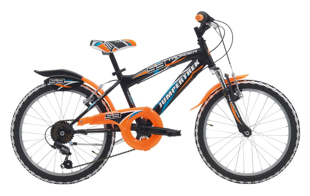 "Jumpertrek 20"" THUNDER BOY MTB 6B V-Brake Matt Black/Orange"