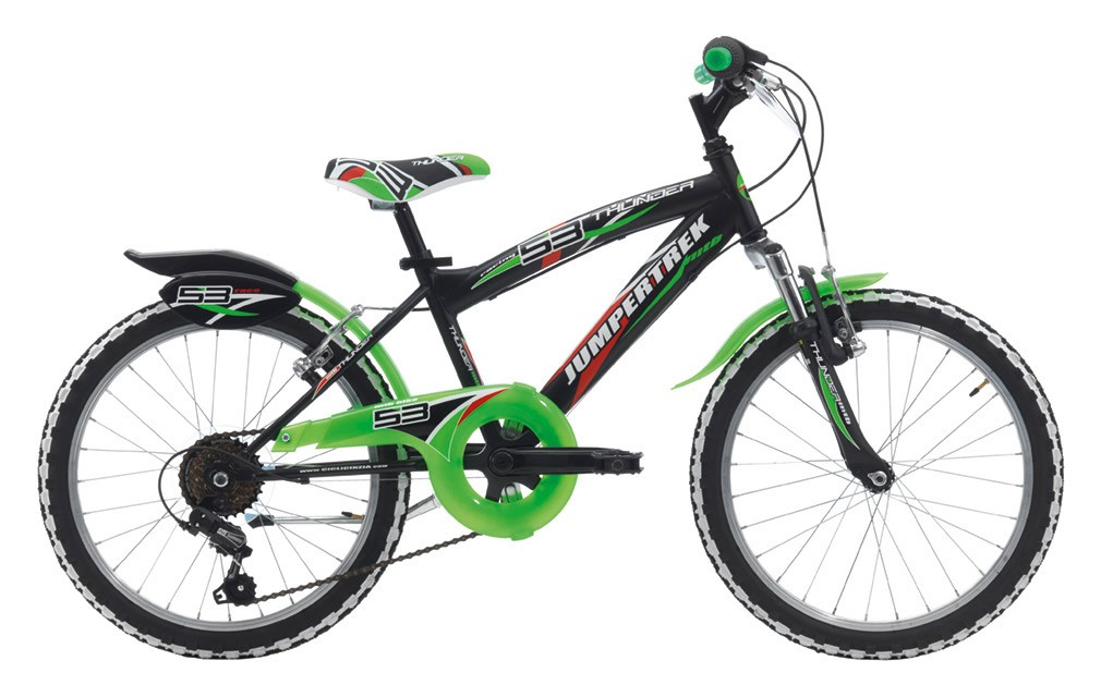 "Jumpertrek 20"" THUNDER BOY MTB 6B V-Brake Matt Black/Green"