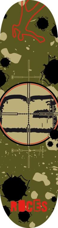 SKATEBOARD ROCES GUNSIGHT
