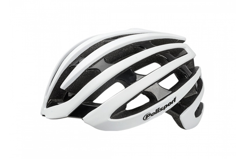 KACIGA POLISPORT LIGHT ROAD WHITE MATTE/BLACK GLOSS