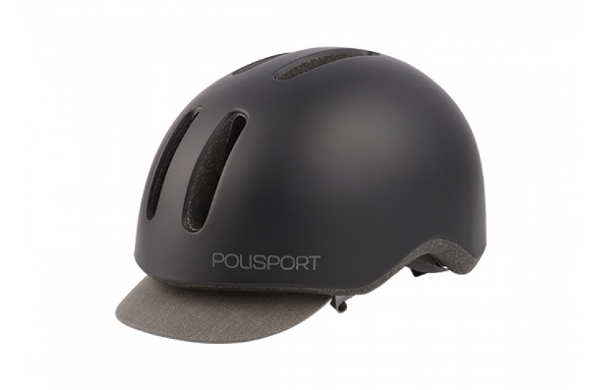 KACIGA POLISPORT COMMUTER BLACK/GREY