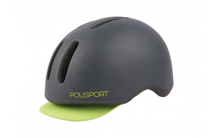 KACIGA POLISPORT COMMUTER DARK GREY/FLUO