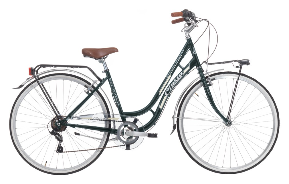 "CINZIA 28"" CTB BEAUTY 6B V-BRAKE PETROL GREEN"