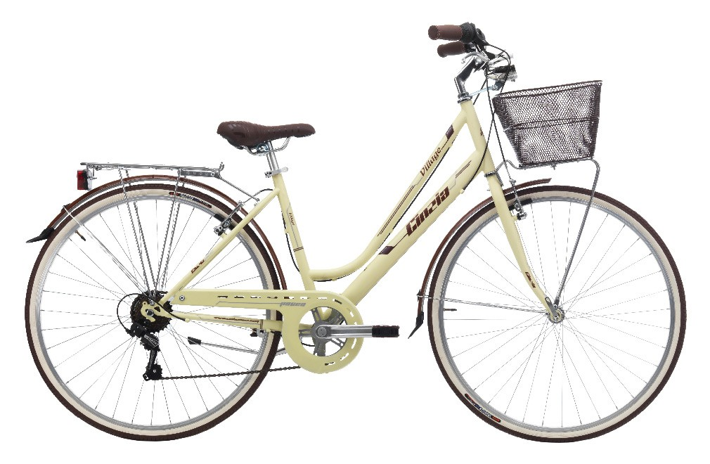 "CINZIA 28"" CTB VILLAGE LADY 6B V-BRAKE MATT CREAM"