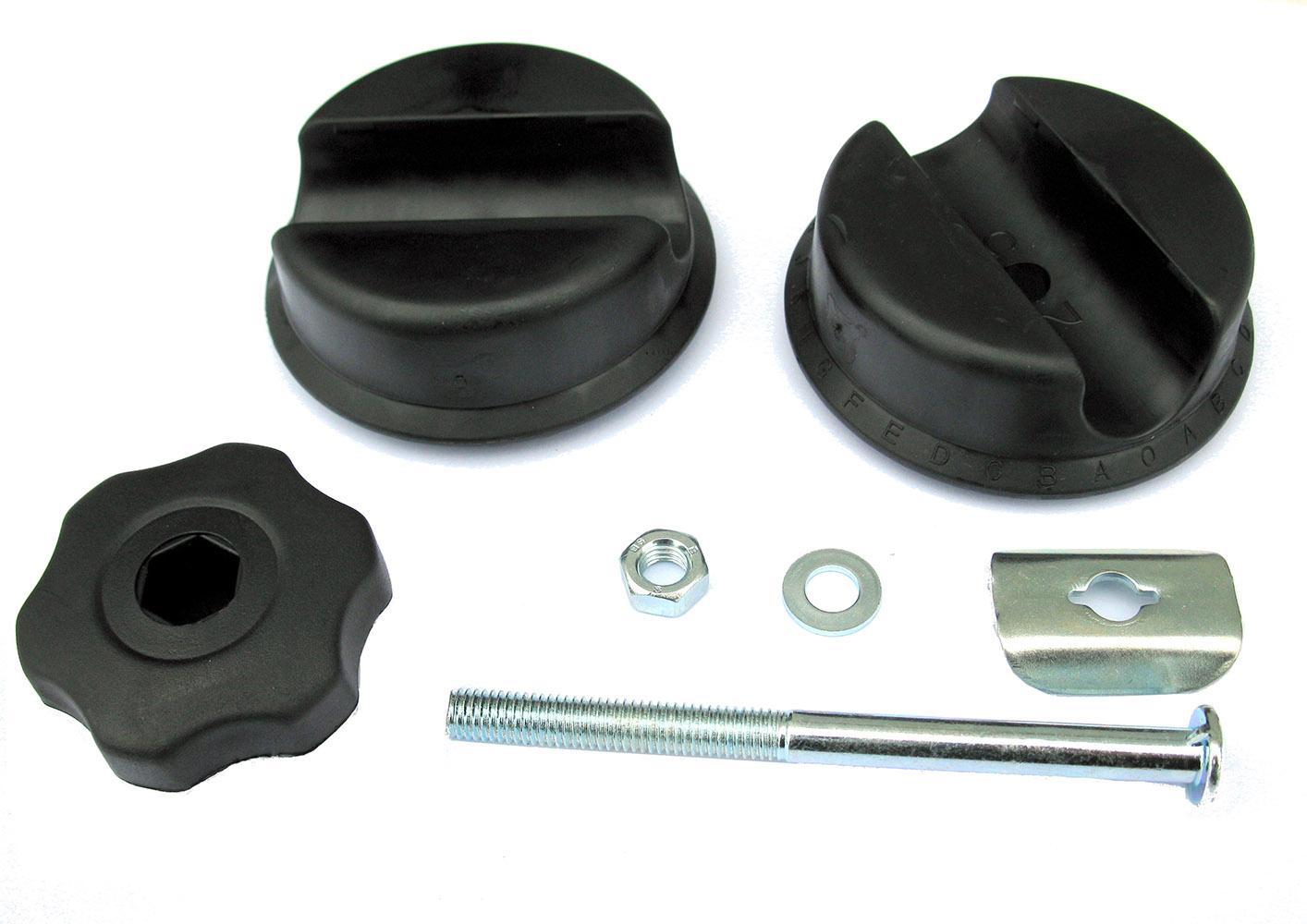 SET PLASTIKA PERUZZO SQUARE/ROUND KNOB 25mm