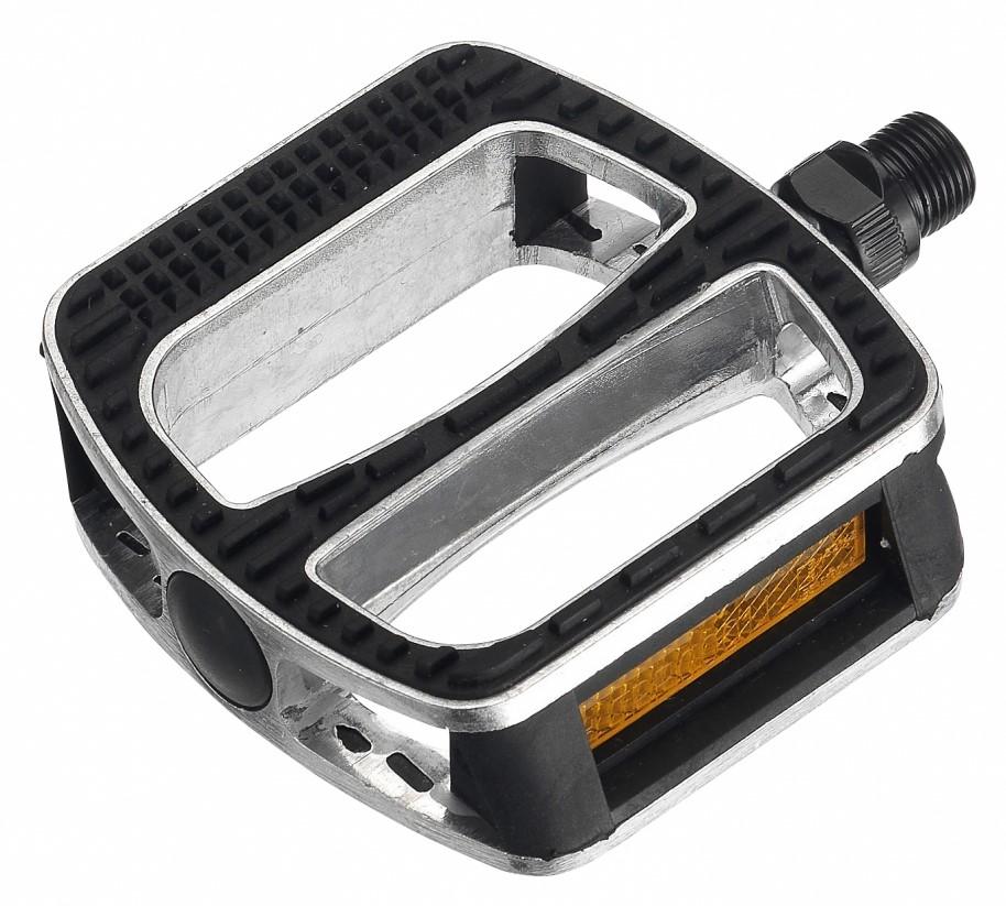 PEDALE FPD NWL-467 Silver Alloy body/Black rubber/Boron axle 103.5x92.3x23mm