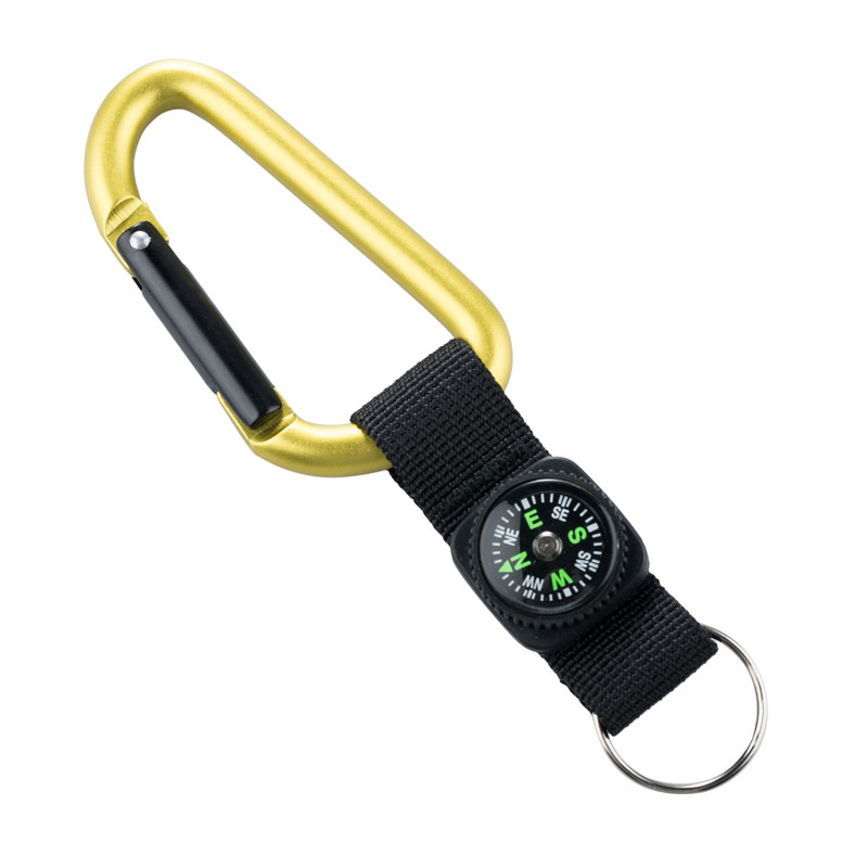 MUNKEES KARABINER 8 MM WITH COMPASS STRAP GREEN