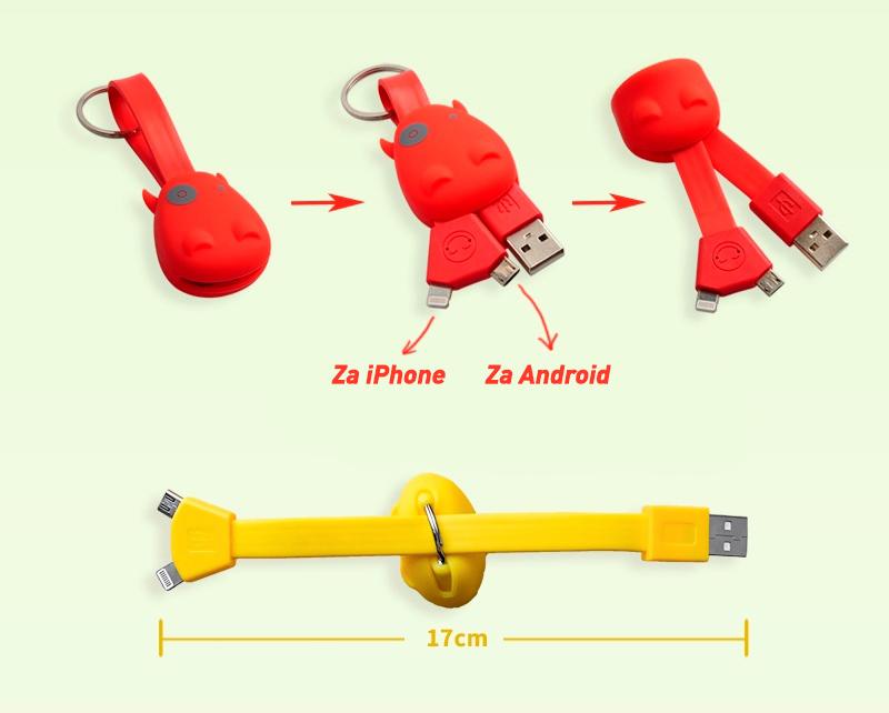 MUNKEES PRIVJESAK USB SMART CHARGER PINK