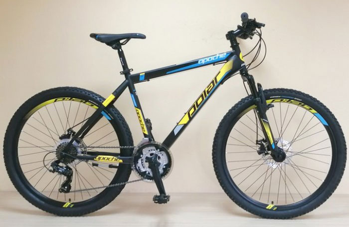"POLAR APACHE DISC 26"" BLACK/BLUE/YELLOW"