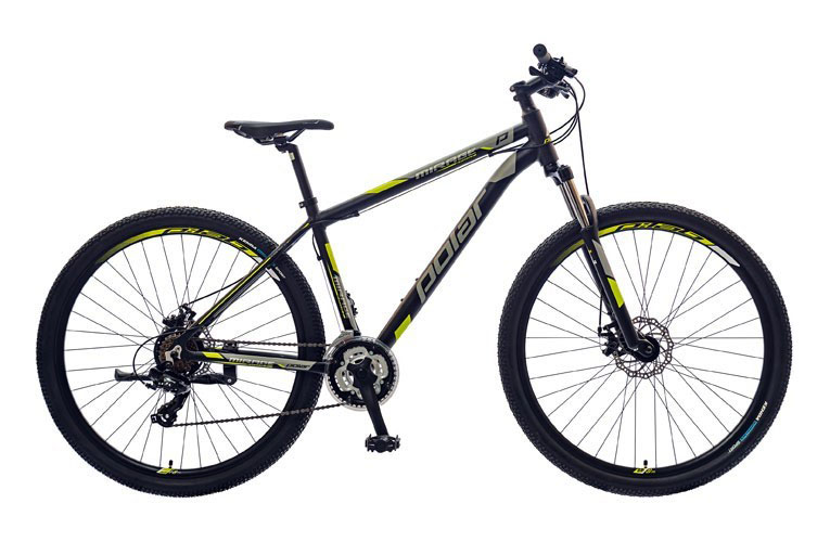 "POLAR MIRAGE SPORT 29"" BLACK/GREY/YELLOW"