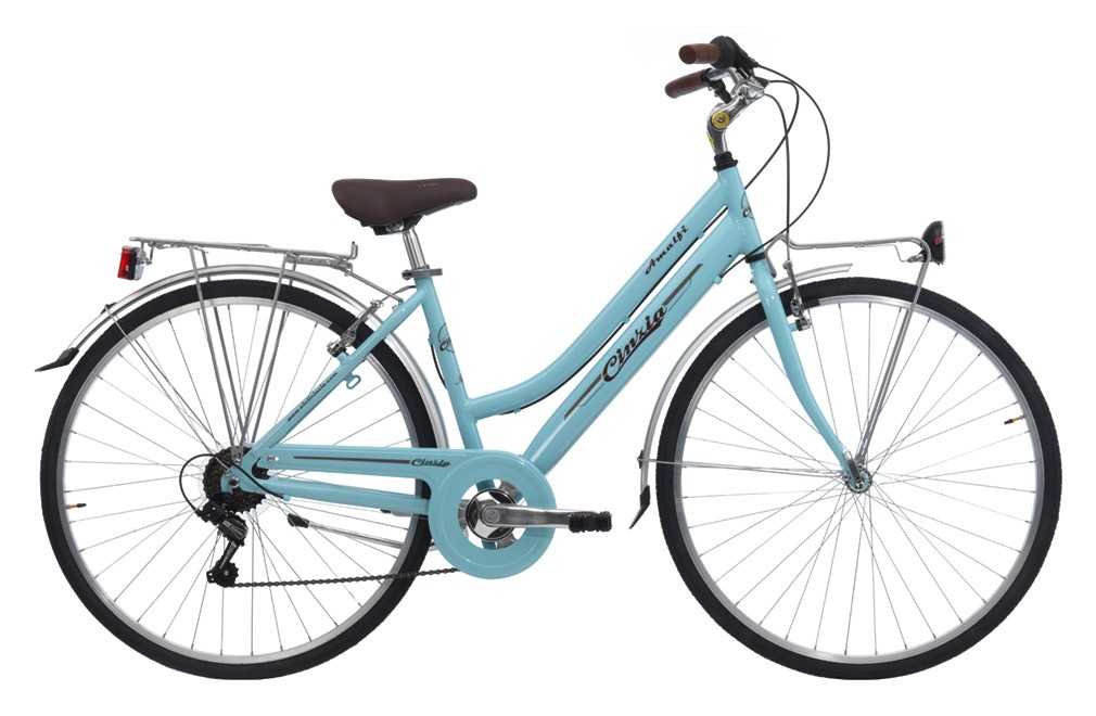 "CINZIA 28"" ITALIA AMALFI LADY 6B V-BRAKE LIGHT BLUE"