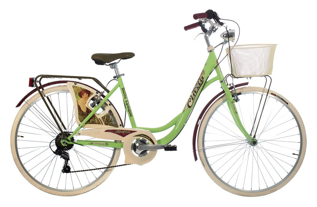 "CINZIA 26"" BELLE EPOQUE LADY 6B V-BRAKE GREEN"