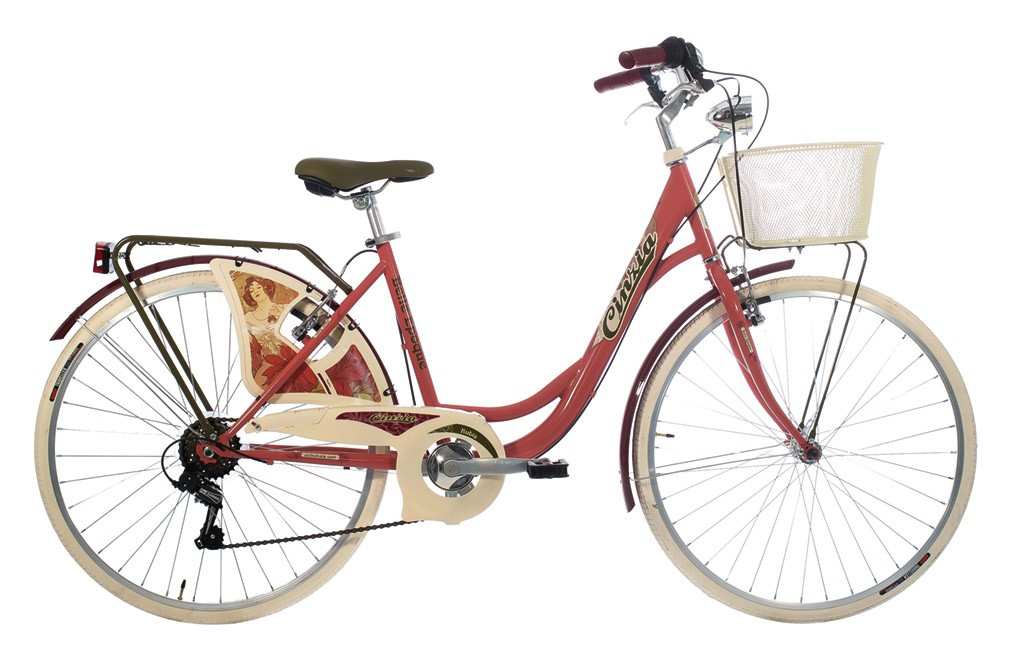 "CINZIA 26"" BELLE EPOQUE LADY 6B V-BRAKE RUBINE"