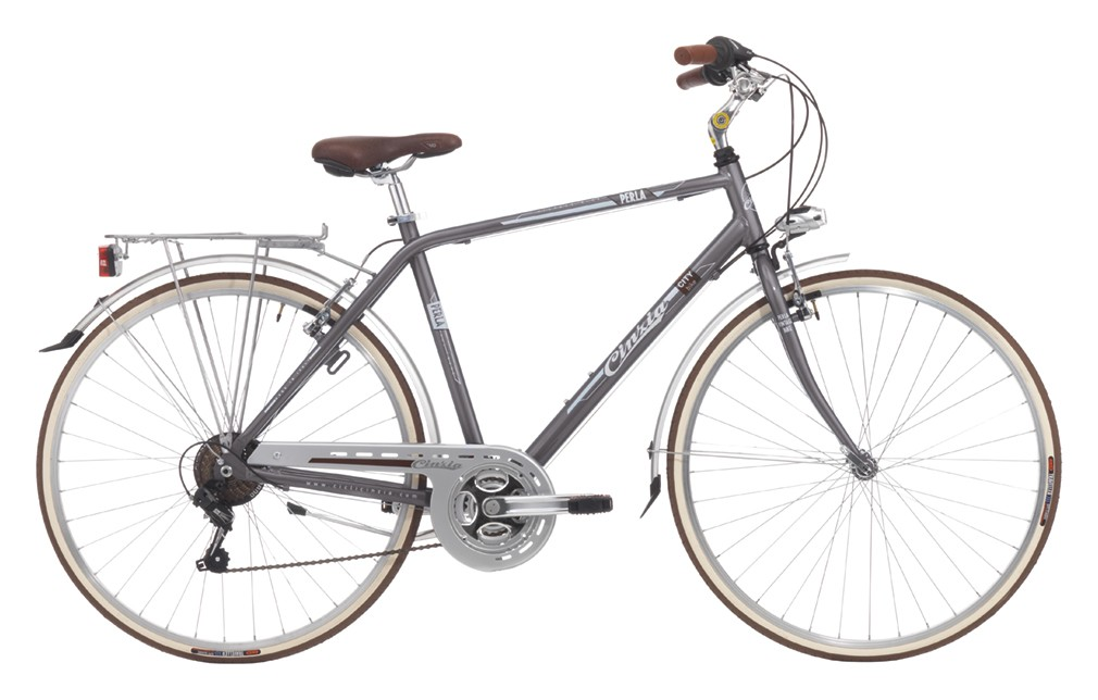 "CINZIA 28"" PERLA MAN 21B V-BRAKE PEARL GREY"