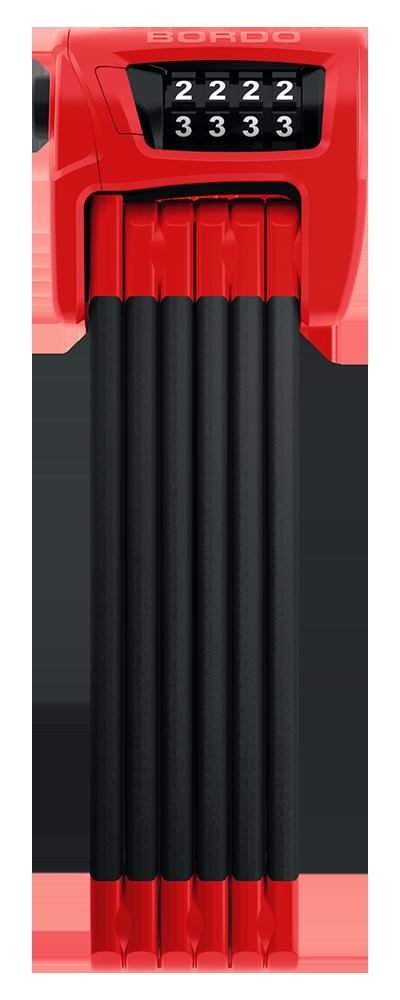 LOKOT ABUS BORDO 6100/90 COMBO RED SH 72991-1