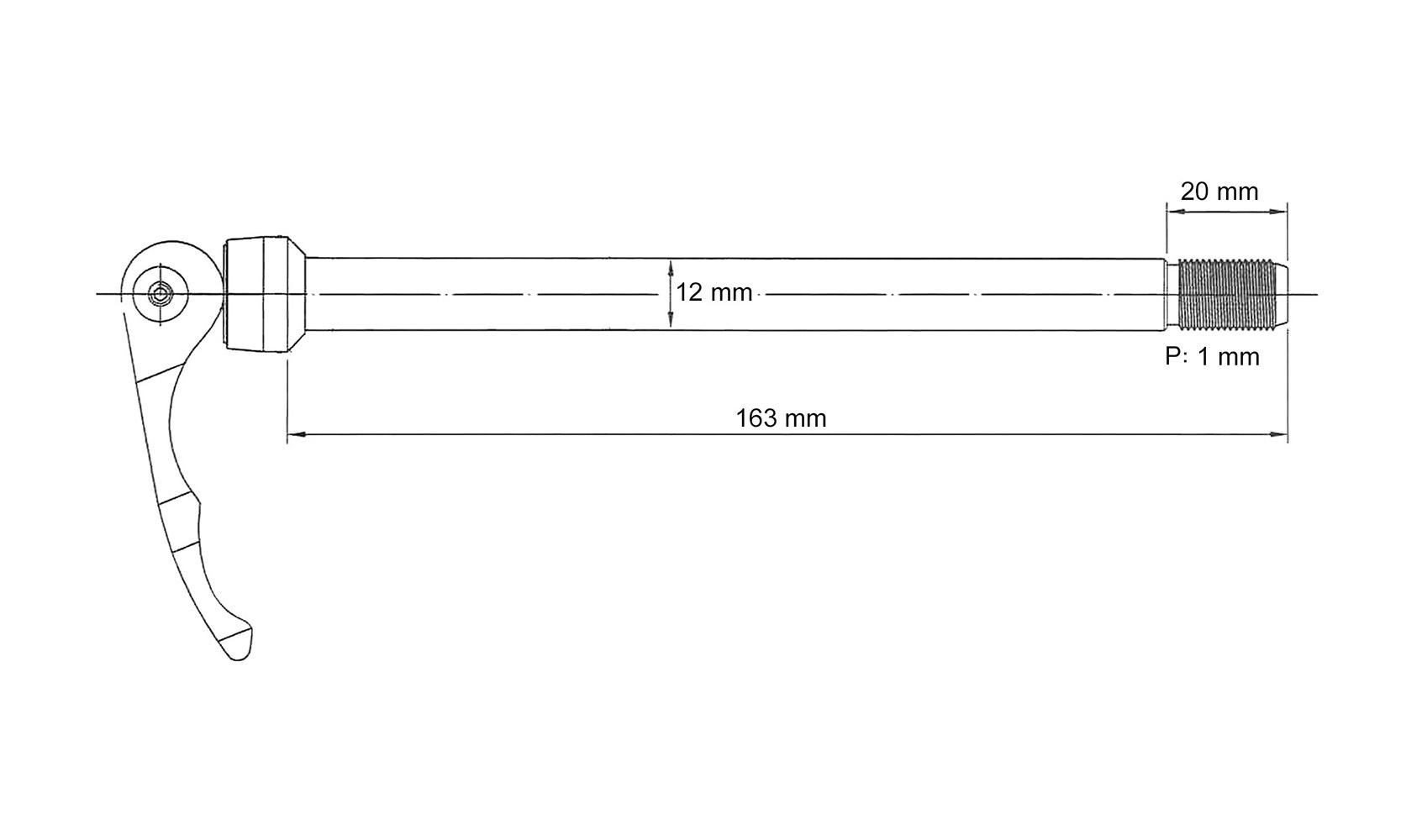 Zatvarač stražnjeg kotača Novatec QR X12 M12X142mm