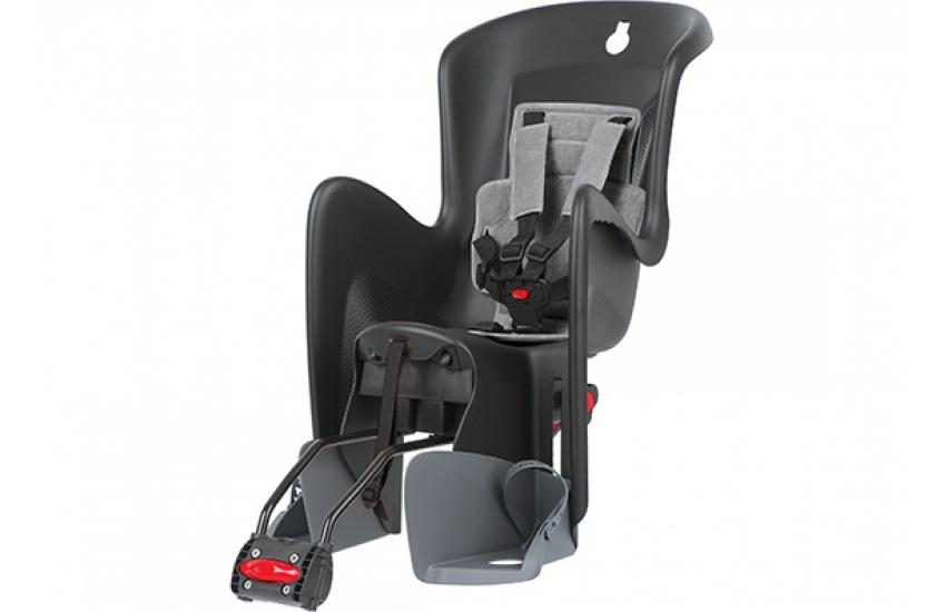Sjedalo za dj. stražnje BILBY RS podesiva Black/Grey Polisport