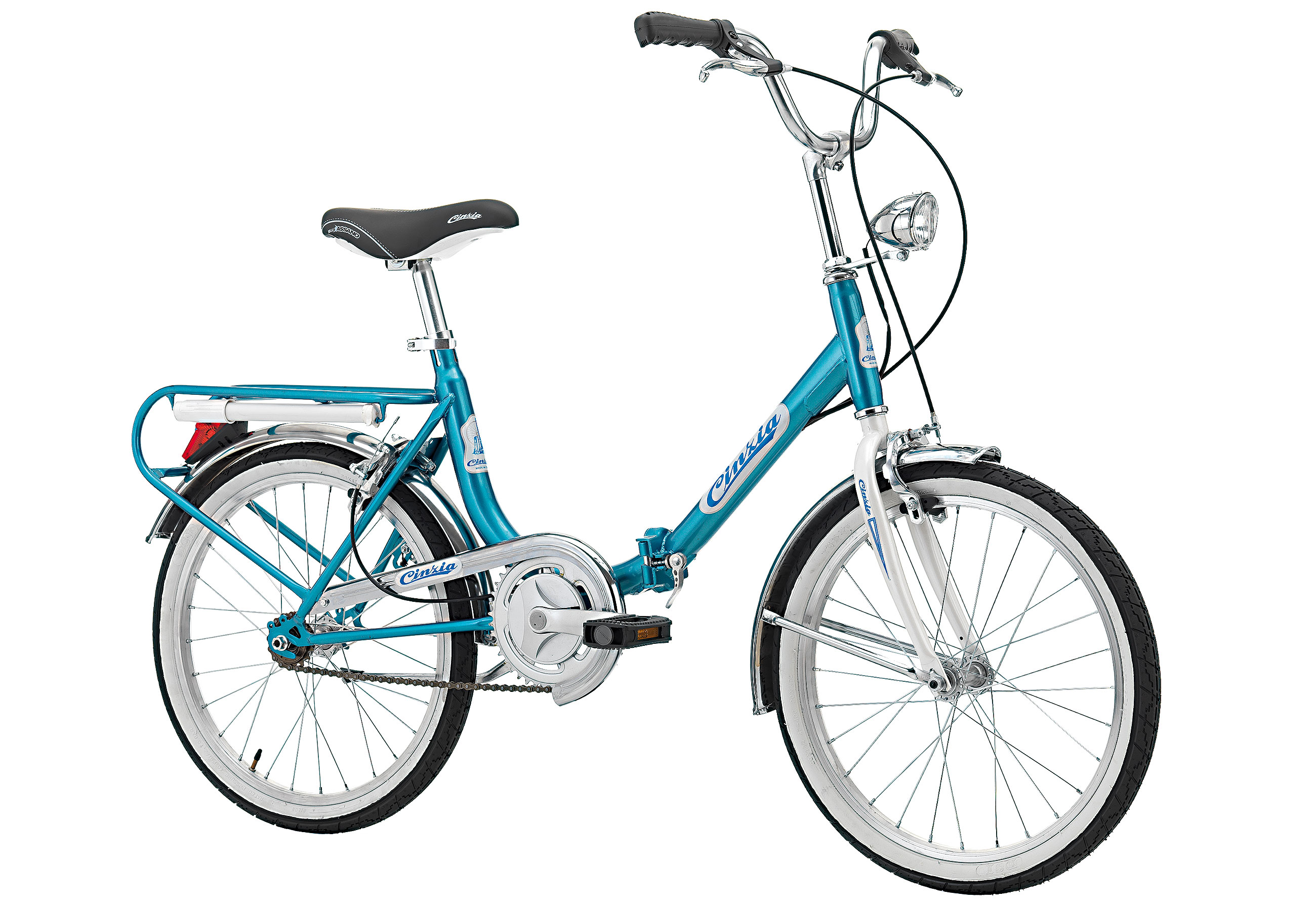 "Cinzia FIRENZE 20"" Single speed Blue - White, Blue White, Čelik, Unisex"